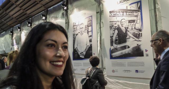 Installazione Fotografica in Piazza Vetra _ Ritratti per il progetto #FACCAIMO PIAZZA